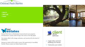Central Park Haven Website